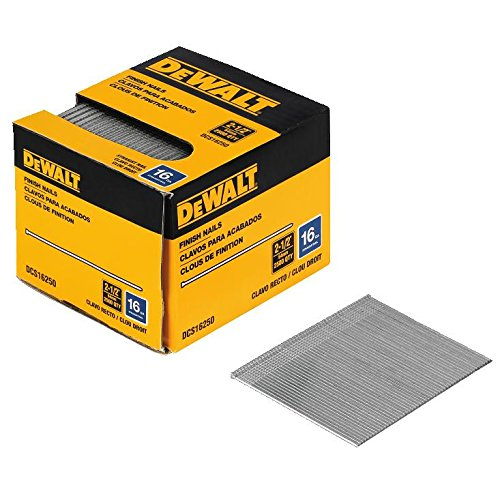 DEWALT DCS16250 2-1/2-Inch by 16 Gauge Finish Nail (2,500 per Box)