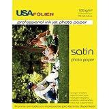 Usa Folien 7701, Papel Fotográfico, Inkjet, A4, Semi Brilho Santin 180 g, Multicor, Pacote de 50