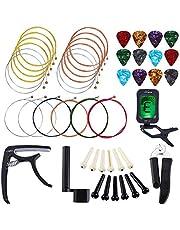 Lixada Guitar Strings Changing Kit Guitar Accessories Kit Guitar Playing Maintenance Tool for Beginners