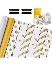 WD&CD Wrapping Paper Gift Wrapping Paper for Birthdays, Bridal Showers, Baby Showers, Christmas, Friendsmas and More