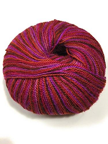 Silky Alpaca Lace 0515 Ruby Brocade -
