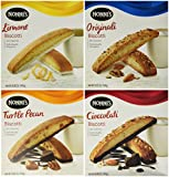 Nonni's Biscotti Variety Pack of 4 – (Cioccolati, Limone, Originali, Turtle Pecan)