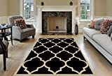 Kitchen Rugs Gold Maxy Home Black & Cream 3'3