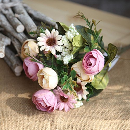 Artificial Flowers,Vibola® Snowflake Dragon Ball Fake Flowers Bouquet For Home Wedding Decor ()