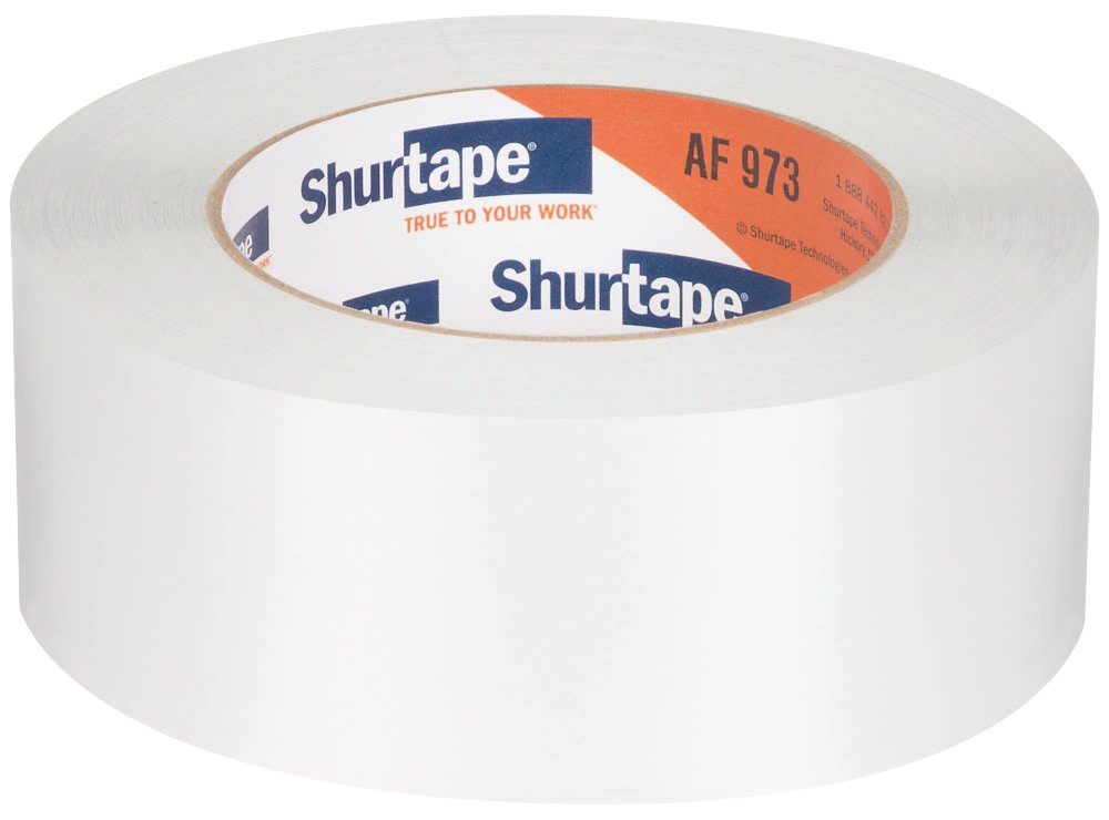 Shurtape AF 973 Aluminum Foil HVAC and Metal Repair Tape with Liner, Silver, 48 MM x 46 Meters per Roll, 1 Case of 24 Rolls  (101024)