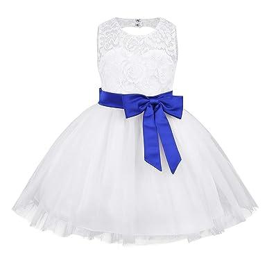 860d35f6dc2e iiniim Infant Baby Girl Bowknot Lace Flower Wedding Pageant Birthday ...