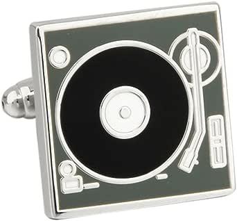 Dj Stereo Vinyl Retro Lp Record Player Deck Cufflinks