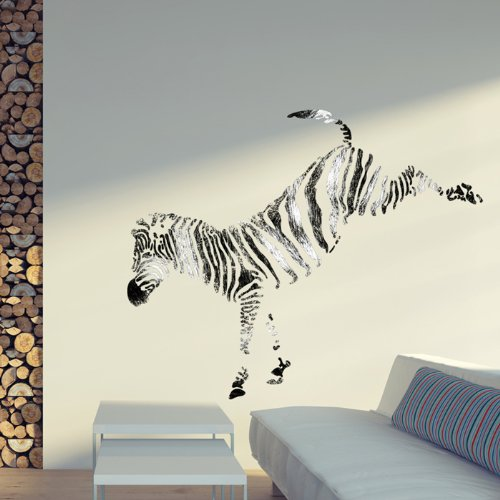J BOUTIQUE STENCILS Wall Stencils Zebra stencil Large size Template for Wall Graffiti Canvas art DIY