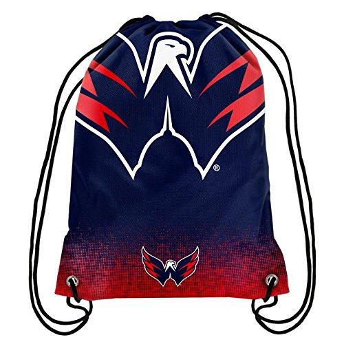 Team Logo Drawstring Backpack (2016 NHL Hockey Team Logo Drawstring Backpack Bag - Pick Team (Washington Capitals))