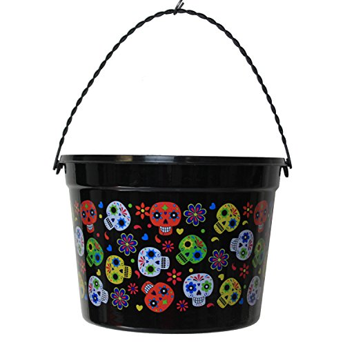 Black Trick OR Treat Bucket with Sugar -