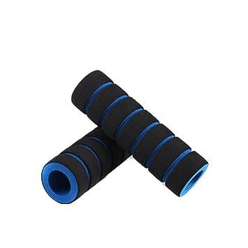 Antideslizante Suave Esponja de la Espuma MTB Ciclo de la Bicicleta de la manija Barra del Manillar Pu/ños Azul