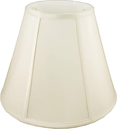 Off-white American Pride 8x 14x 10.75 Round Soft Shantung Tailored Lampshade