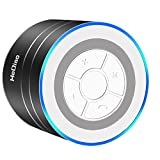 HeQiao Portable Bluetooth Speaker Mini-size Aluminum Alloy Enhanced Stereo Deep Bass Noise-Cancelling Speaker W/ Microphone