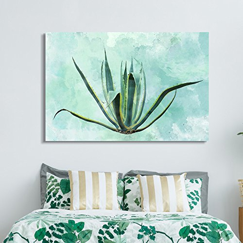 Cacti on Watercolor Background