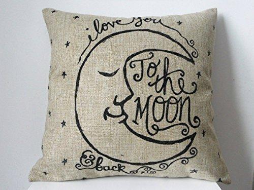 Lino y algodón Hidoon® cuadrado Retro decorativo almohada ...