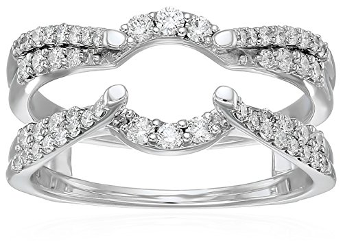 14k Gold Diamond Solitaire Enhancer White Ring (1/2cttw, I Color, I2 Clarity), Size 6 by Amazon Collection