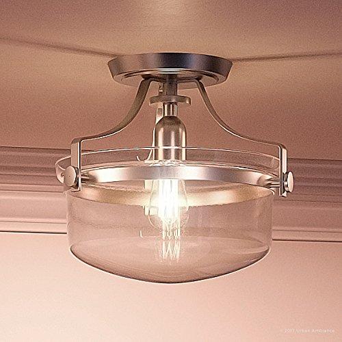 Luxury Vintage Semi-Flush Ceiling Light, Small Size: 10.5