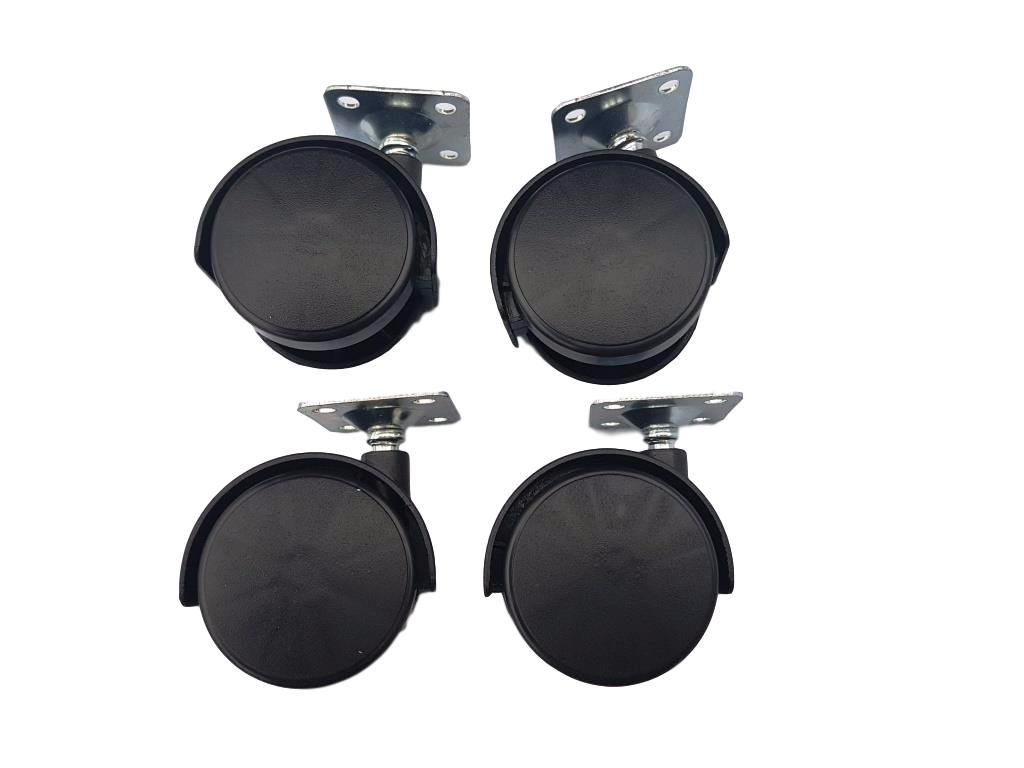 40 mm Plastique pivotant double Roulettes en mé tal plaque supé rieure meubles Appliance et é quipements Petite Mini Ensemble de roues de roulettes Ulmas