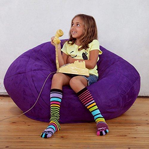 Price comparison product image Jaxx Sofa Saxx Bean Bag Lounger,  4',  Grape Microsuede