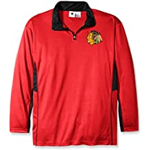 NHL Big and Tall Men's Long Sleeved Zipper Piece Polyester Jersey