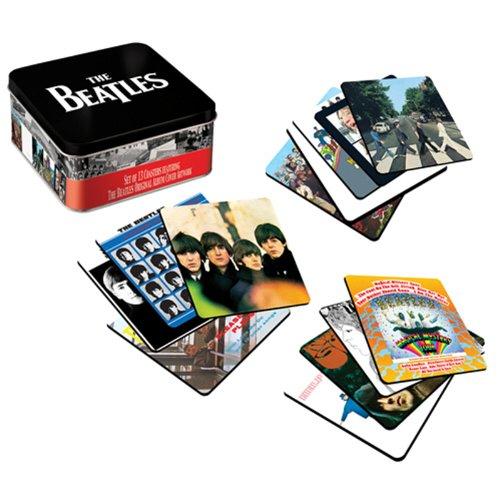 The Beatles Album Cover 13 pc. Coaster Set with Tin Storage Box