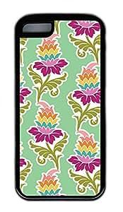 iPhone 5c Case Unique Cool iPhone 5c TPU Black Cases Flower121 Design Your Own iPhone 5c Case