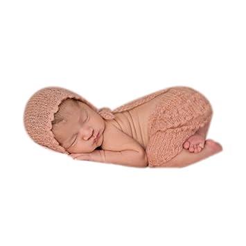BINLUNNU - Gorro de ganchillo para bebé, para sesión de fotos o ...