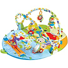 Baby Gym and Play Mat - Activity Musical Playland with 6 Accessories for Infants and Toddlers (0m+)