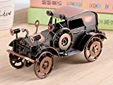 QBOSO Handmade Vintage Car Model Metal Antique Mini Car Collectible Old Vehicle Toys Handcrafted Retro Style Classic Car Bar Home Decoration (1:32)