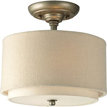 Progress Lighting P3886-134 2-Light Semi-Flush with Double