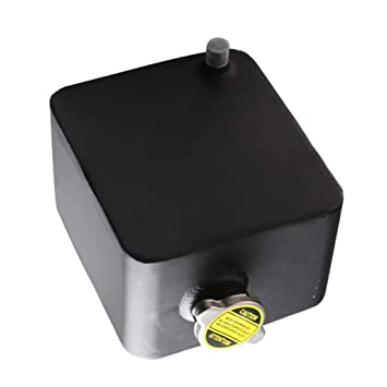 IPOTCH Tanque de Agua de Aluminio con Tapa Accesorios para Carro Autos - negro: Amazon.es: Coche y moto