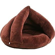 Luckid Cat House Bed Fleece Indoor Cushion Mat for Teddy Dog Kitten Kitty Kennel Shack House