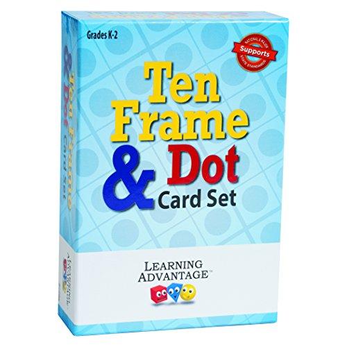 Learning Advantage 7295 Ten Frames & Dot Card Set, Grade: Kindergarten to 2