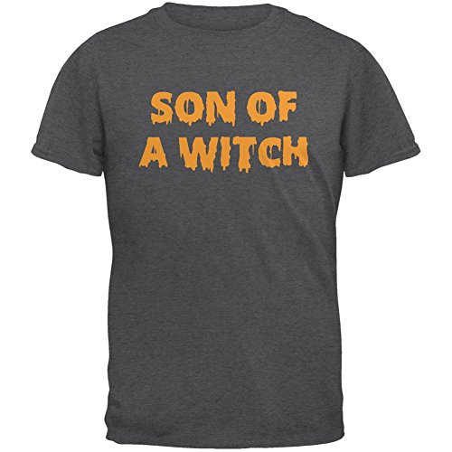 Old Glory Halloween Son of A Witch Dark Heather Adult T-Shirt - Large