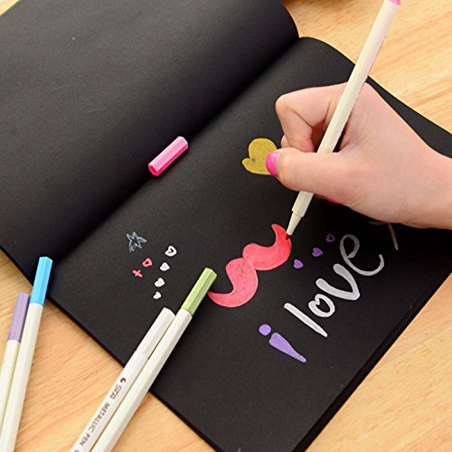 Graffiti Soft Cover Black Paper Sketch Book Notebook Office School Supplies Gift
