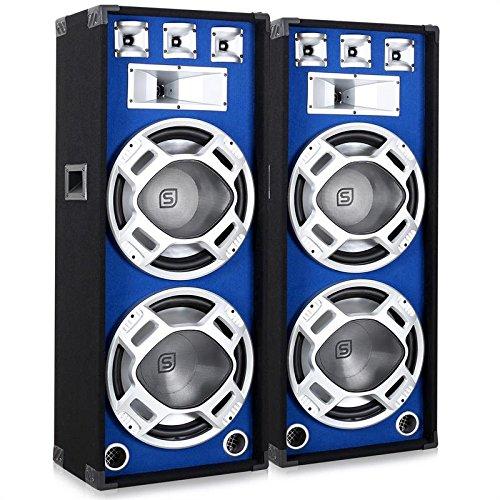 2 opinioni per Skytronic Coppia Casse passive diffusori altoparlanti PA (2000 Watt, sistema a 3