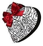 Sugar Free Etched Rose Heart 1/2 pound Gift box of assorted Milk & Dark Chocolate by Diabetic Candy perfect for Valentine's Day