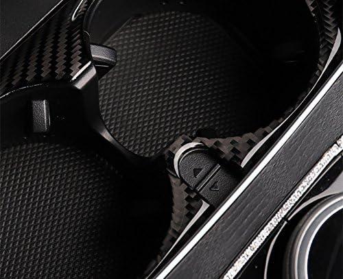 Wroadavee Kohlefaser Mittelkonsole Dekors Becherhalter Blende Rahmen Auto