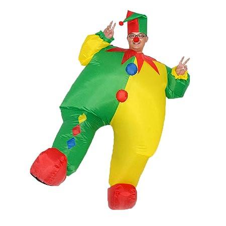 Disfraz de payaso inflable de Navidad para adulto: Amazon.es ...