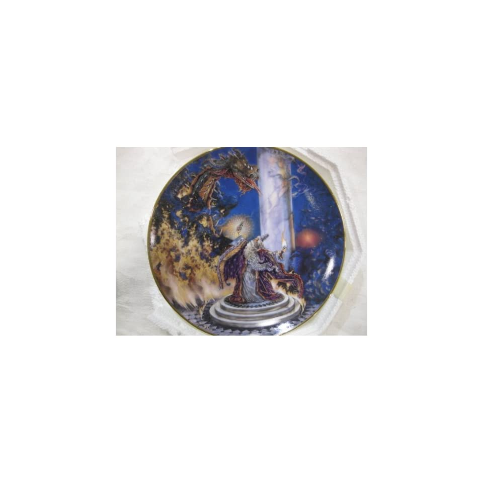 The Dragon Master Collectible Plate by Myles Pinkney from The Franklin Mint Heirloom Recommendation Royal Dalton Limited Edition Fine Bone China Plate Number HC6535