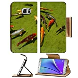 Liili Premium Samsung Galaxy Note 5 Flip Pu Leather Wallet Note5 Case ID: 23450211 Group od Koi fishes in a pond swimming