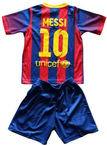 2013/2014 Lionel Messi Home Barcelona Fc Football Soccer Kids Jersey & Short FREE BARCELONA GIFT