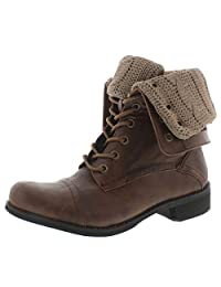 SoftMoc Women's Bev Lace Up Fold Down Combat Boot