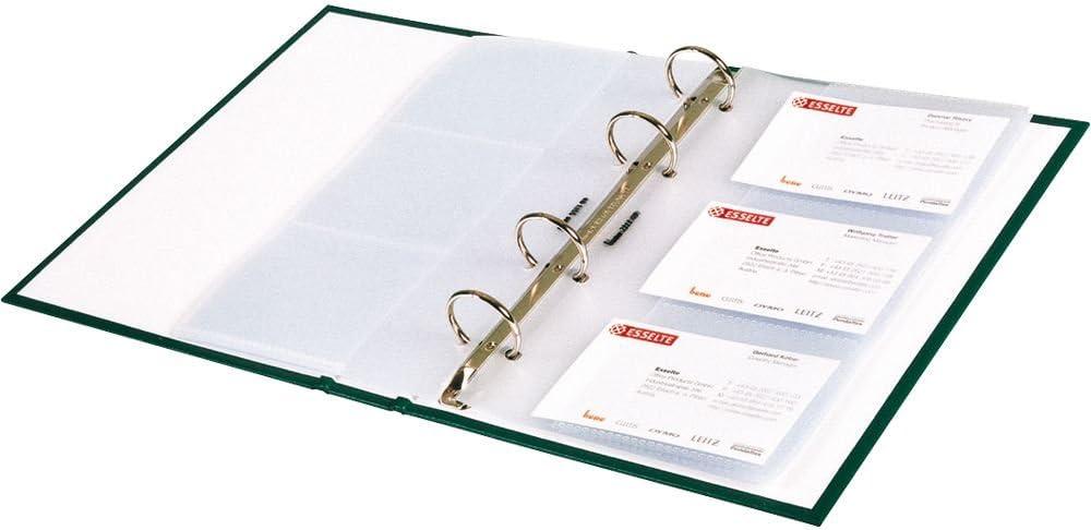 bene Ersatz-Visitenkartenh/üllen A5//221309 transparent Inh.10