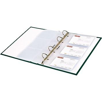 Bene Ersatz Visitenkartenhüllen A5 221309 Transparent Inh 10