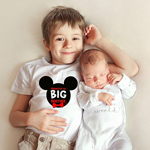 - Disney Little Boys Mickey Mouse Promoted To Big Brother Photo Prop Belly Sticker, Age 2-7