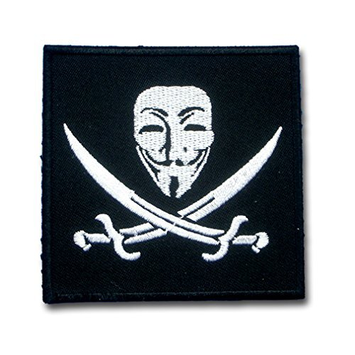 Vendetta Anonymous Guy Fawkes Mask for Harley Lady Rider Biker Punk Heavy Metal Hard Rock Tatto Embroidered Iron on Badge Emblem Letter Morale (Lady Costume Mask)