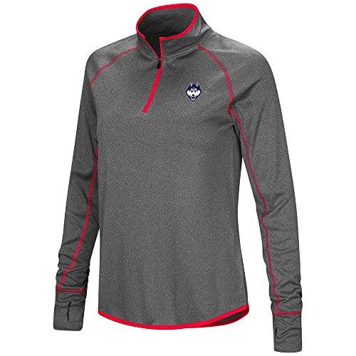 (Womens UConn Connecticut Huskies Quarter Zip Wind Shirt -)