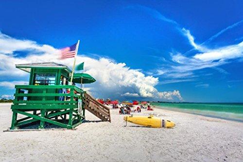 - Coast Guard Beach House Siesta Key Sarasota Florida Photo Art Print Mural Giant Poster 54x36 inch