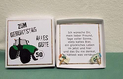 Geldgeschenk Geburtstag Traktor Geschenk Fur Landwirt Geburtstag